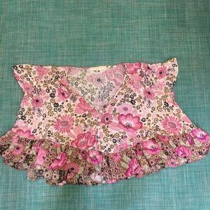 Spell xxs pink flowey top floral pattern